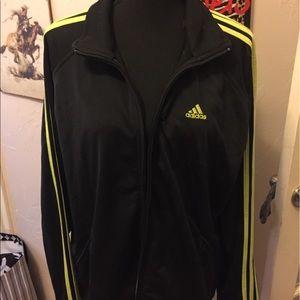 Addidas track black zip up track jacket